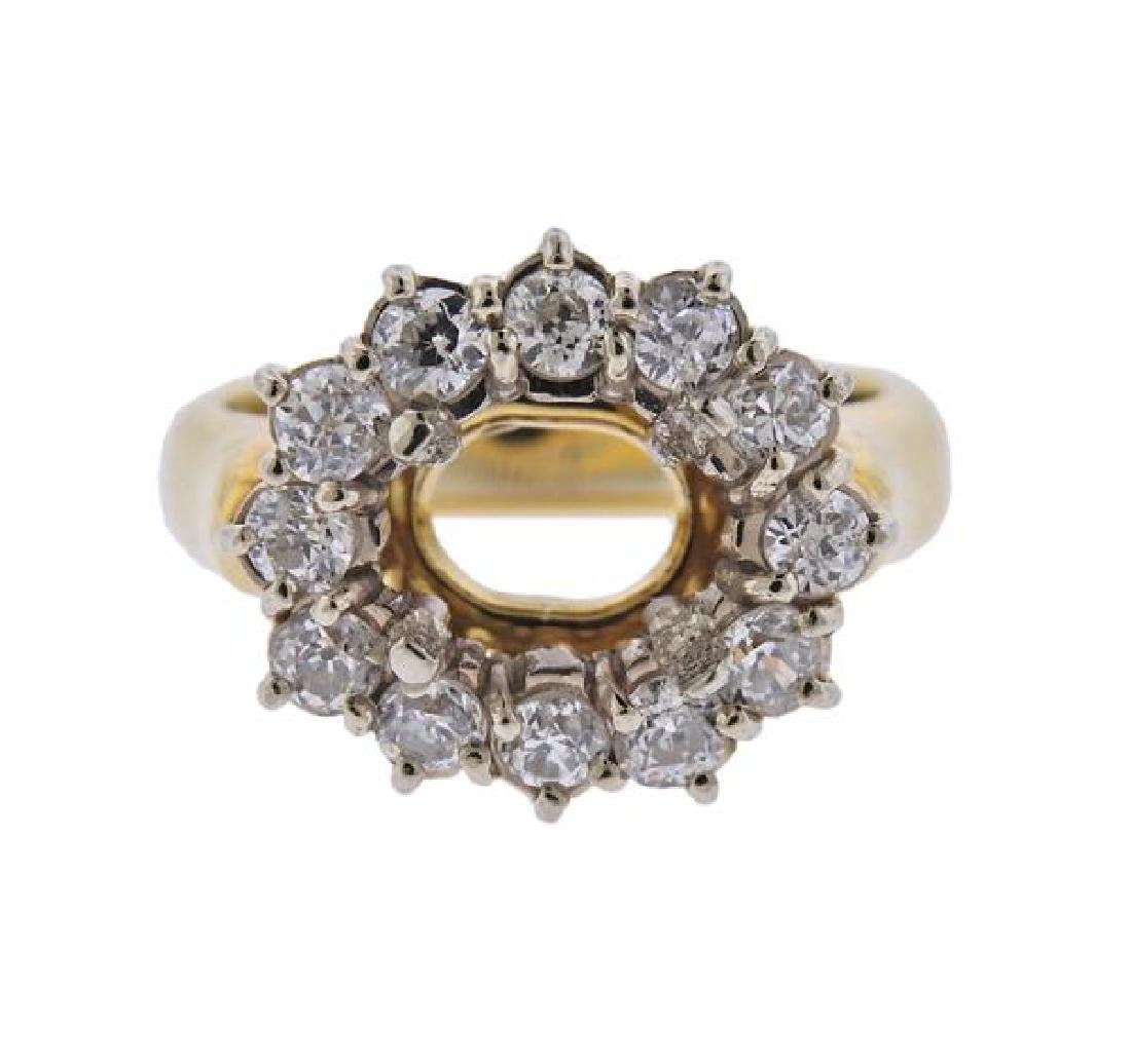 18K Gold Diamond Ring Mounting