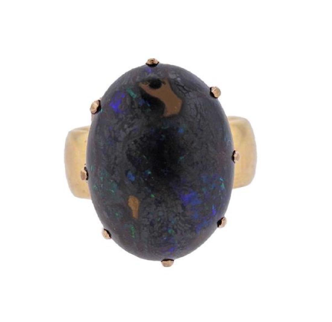 Antique 18k Gold Boulder Opal Ring