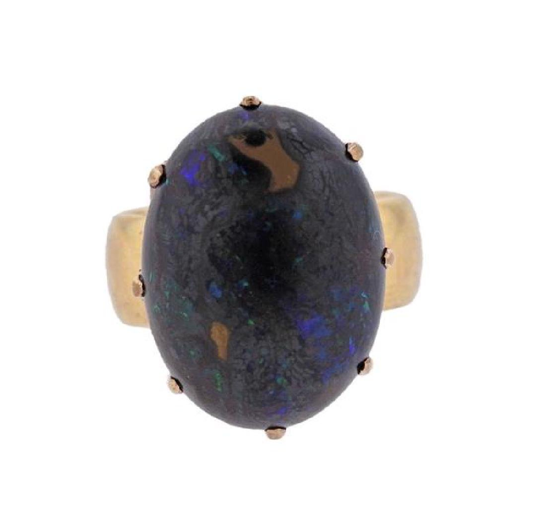 Antique 18k Gold Boulder Opal Ring