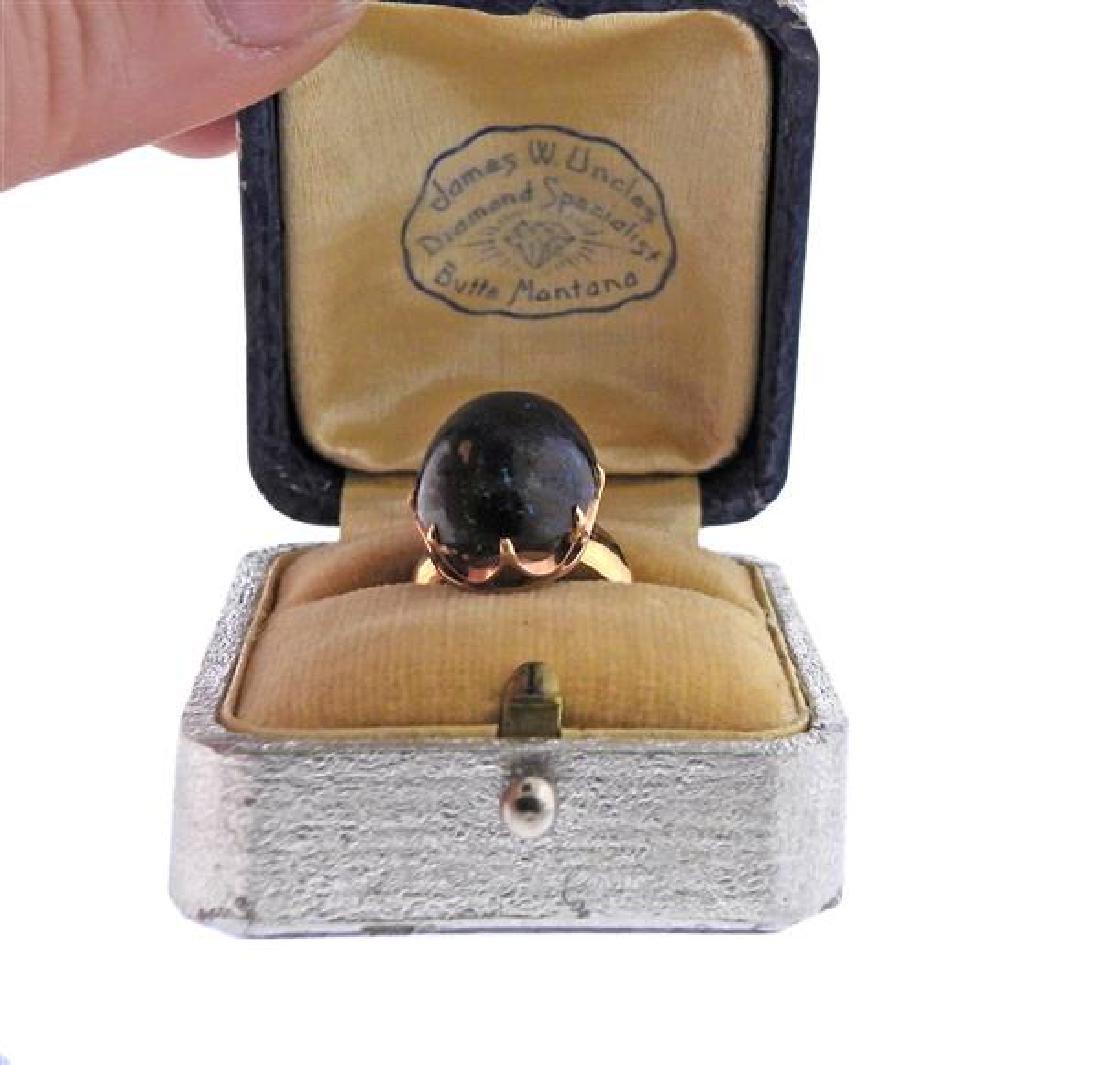 Antique 18k Gold Boulder Opal Ring - 5