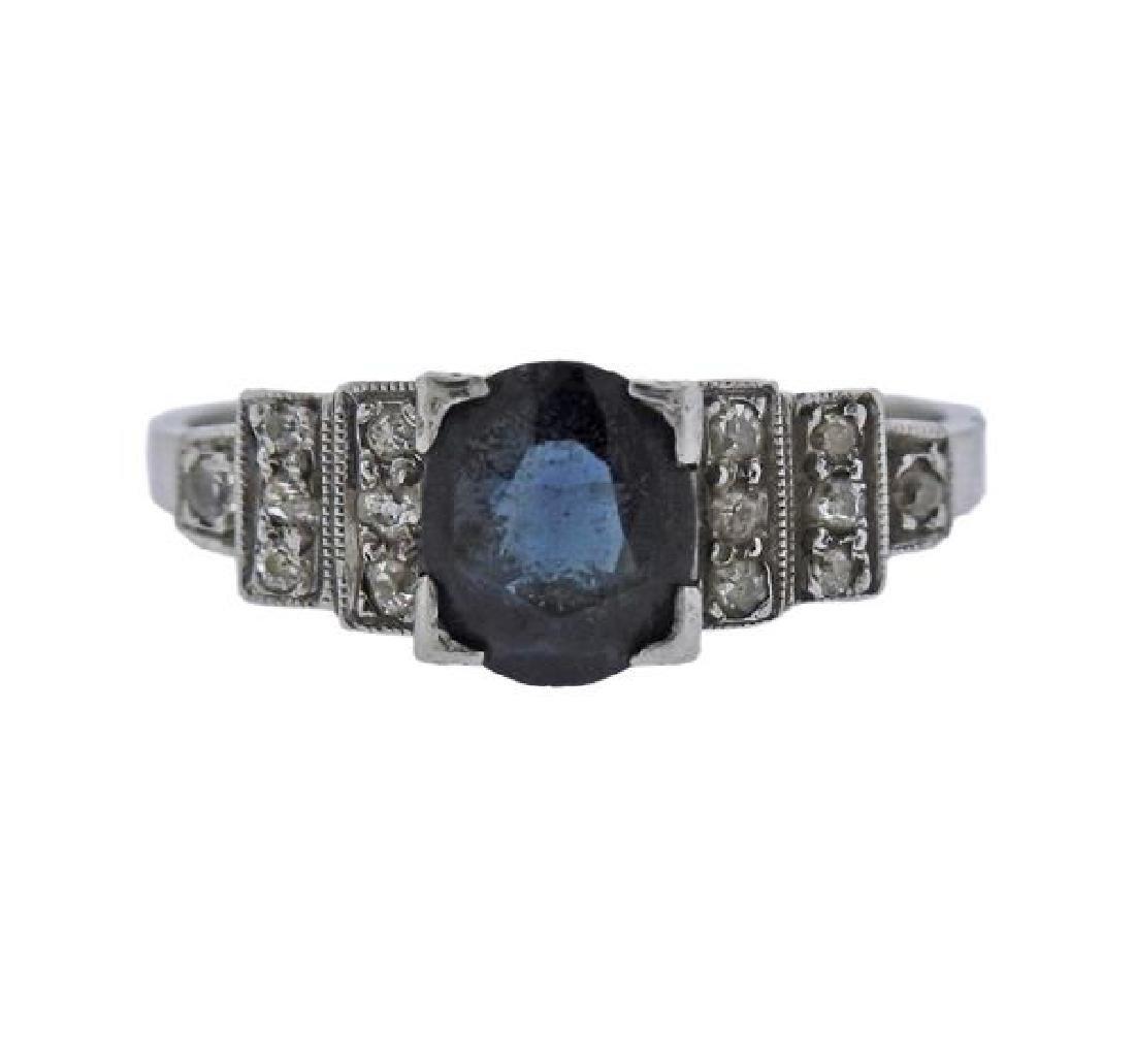 Platinum Diamond Stone Ring