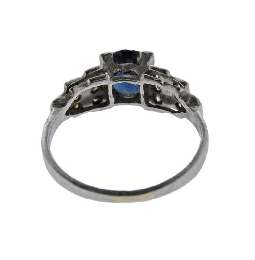 Platinum Diamond Stone Ring - 3