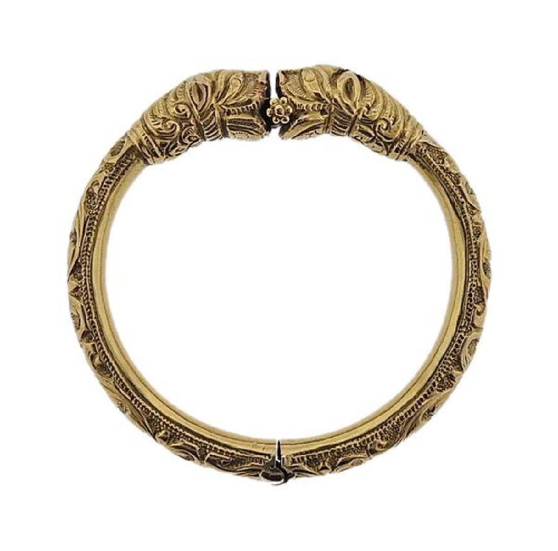 18K Gold Chimera Bangle Bracelet