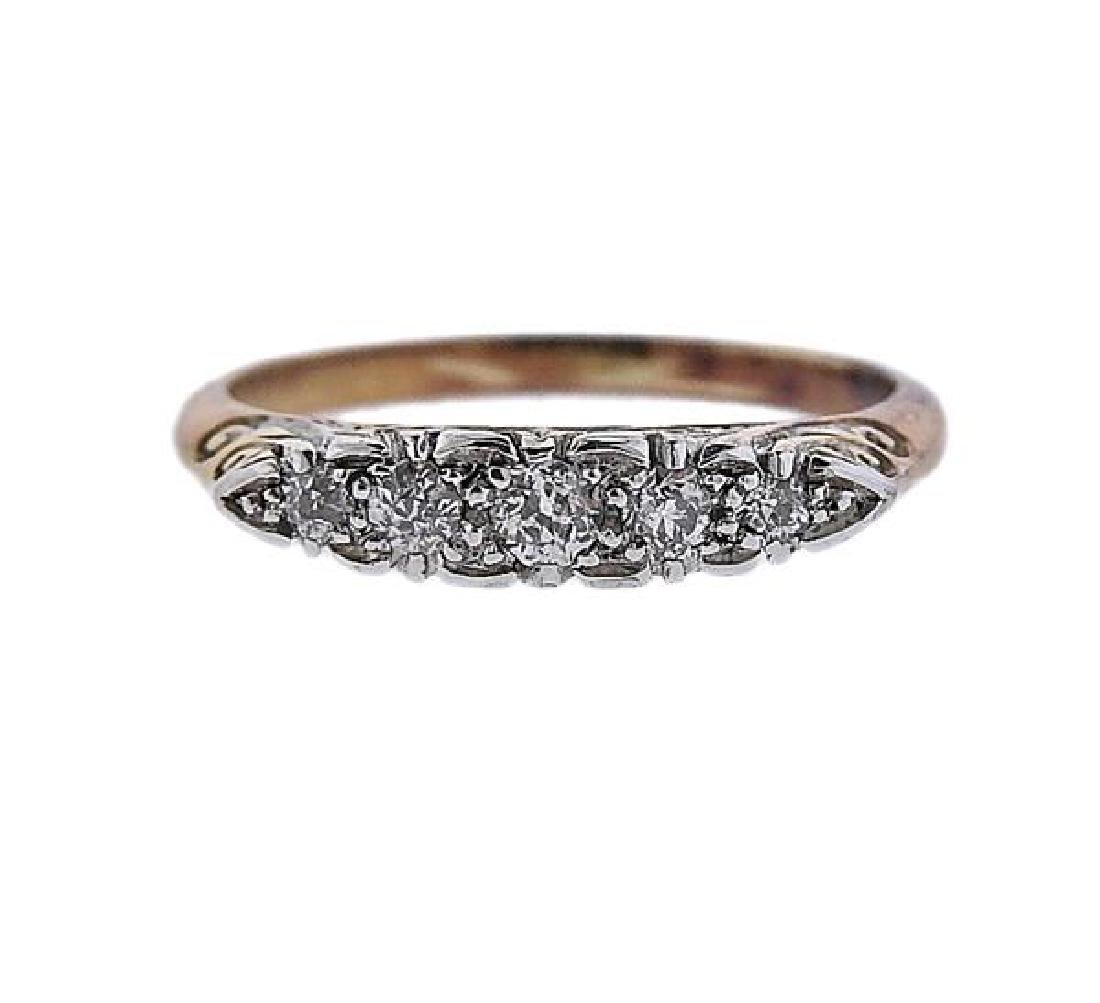 18K Gold Platinum Diamond Ring