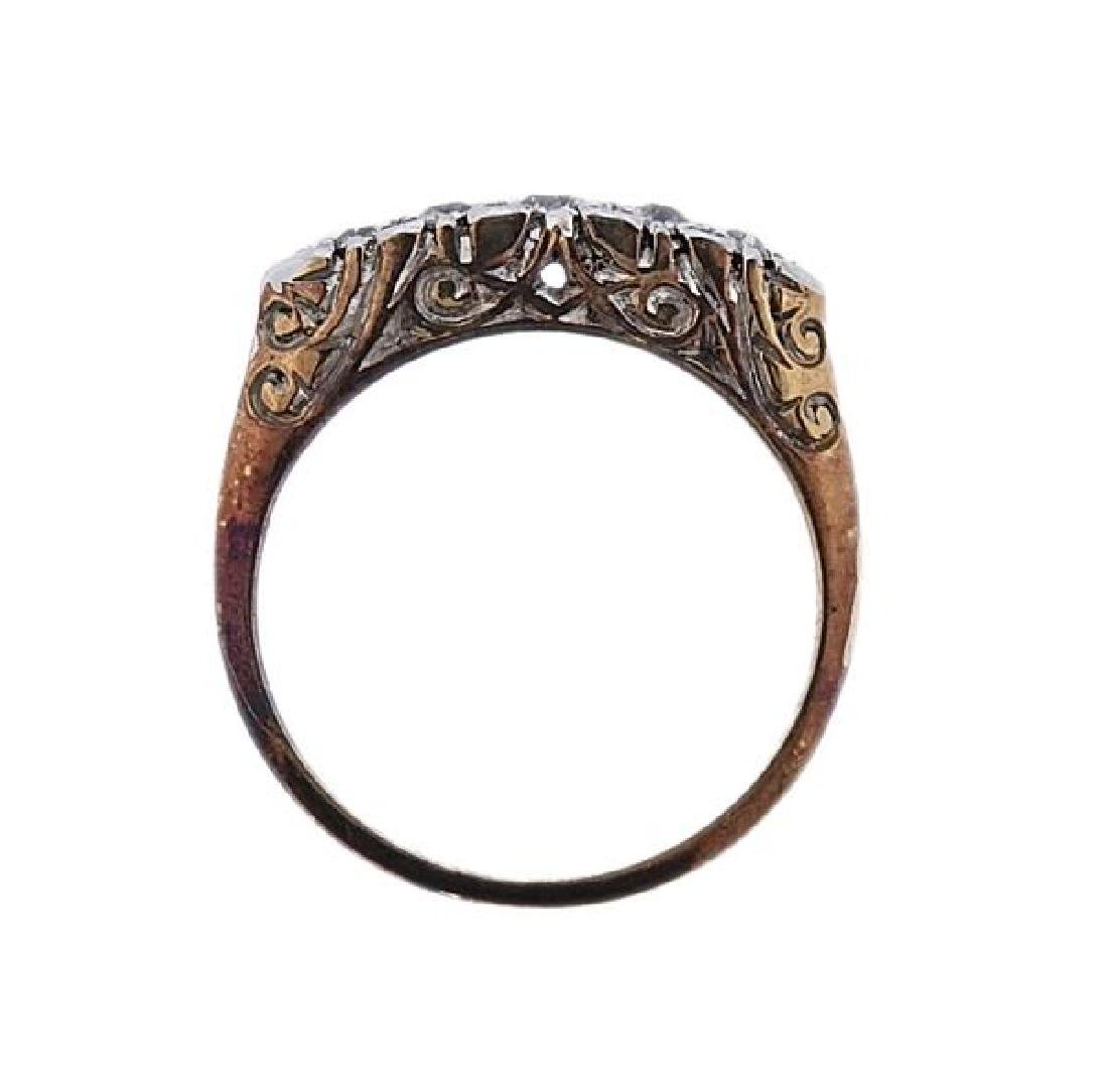 18K Gold Platinum Diamond Ring - 3