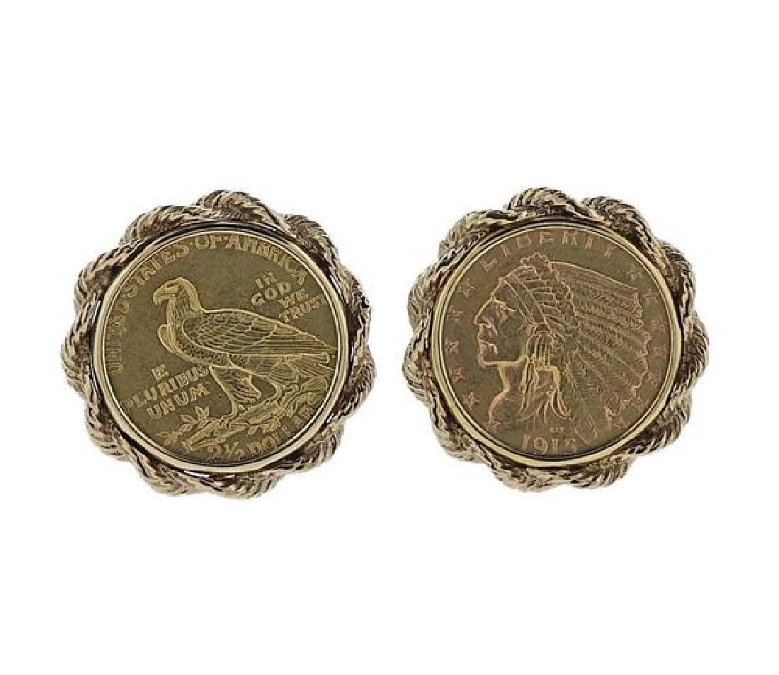 14K 22K Gold American Coin Cufflinks