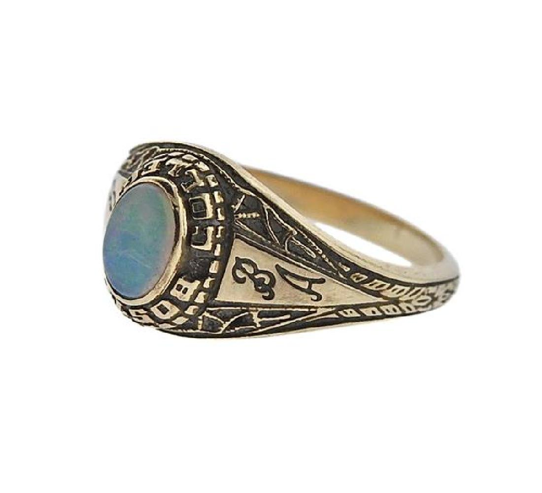 14K Gold Opal Boston College Ring - 2