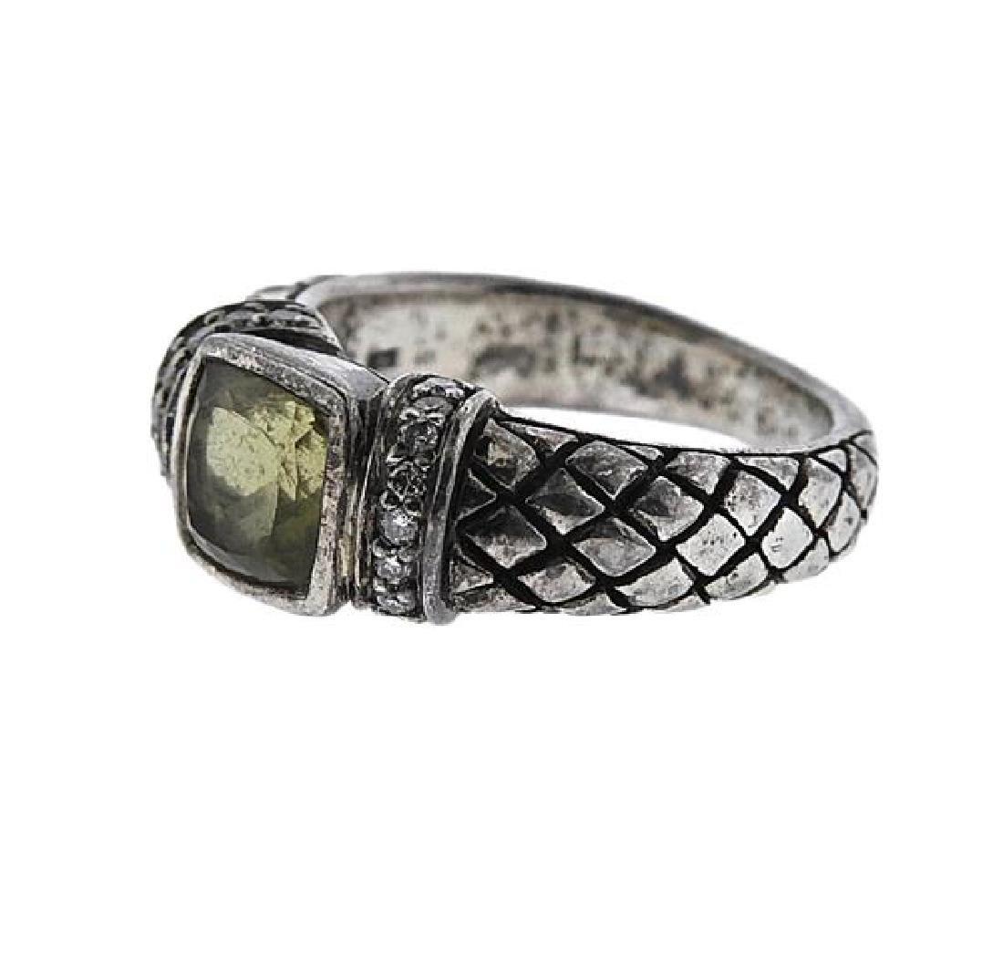 Scott Kay Sterling Silver Yellow Stone Ring - 2