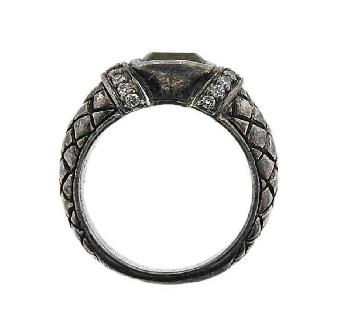 Scott Kay Sterling Silver Yellow Stone Ring - 3