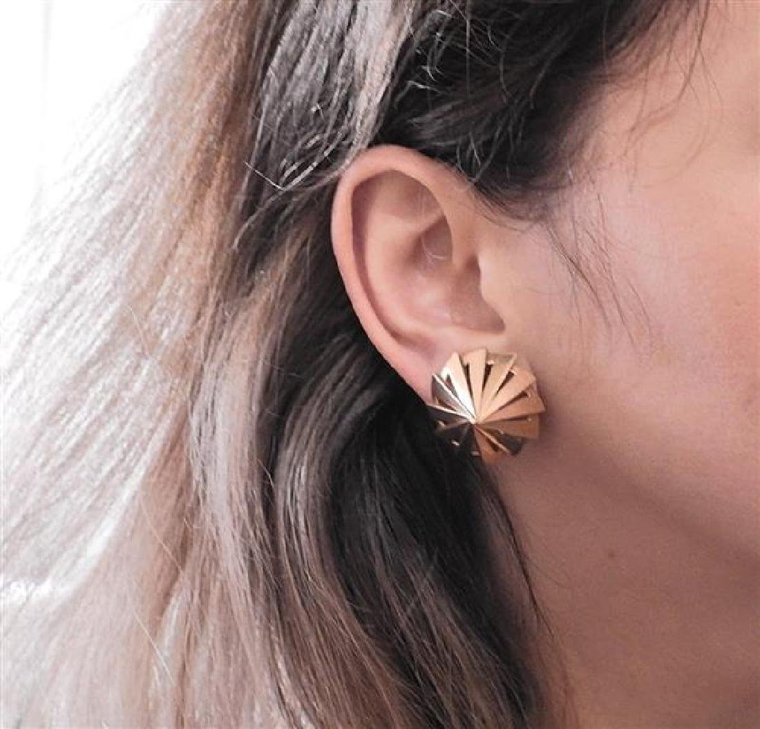 Retro 14K Gold Cone Earrings - 4