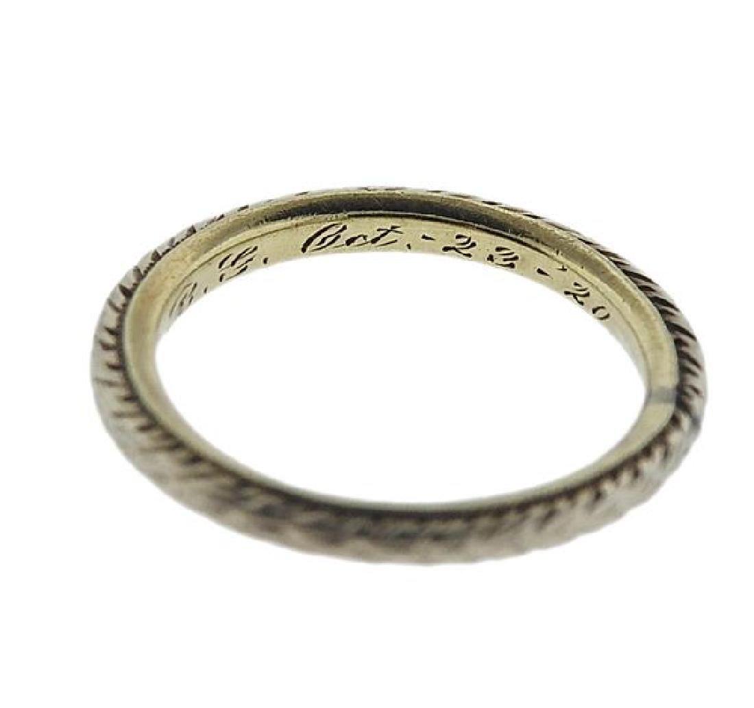 14K Gold Wedding Band Ring - 2
