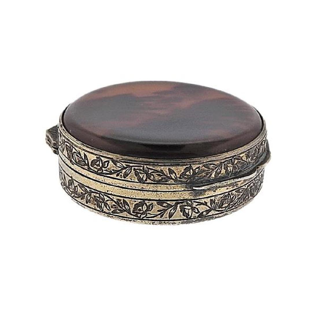 Antique Silver Pill Box