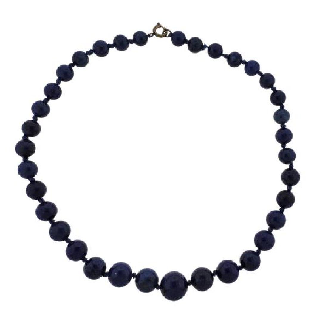 Lapis Graduated Bead Necklace