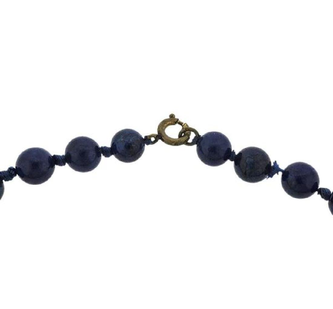 Lapis Graduated Bead Necklace - 2