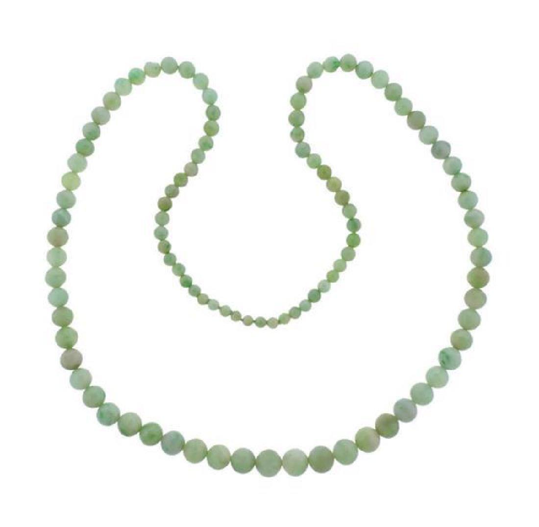 Jade Graduated Bead Necklace