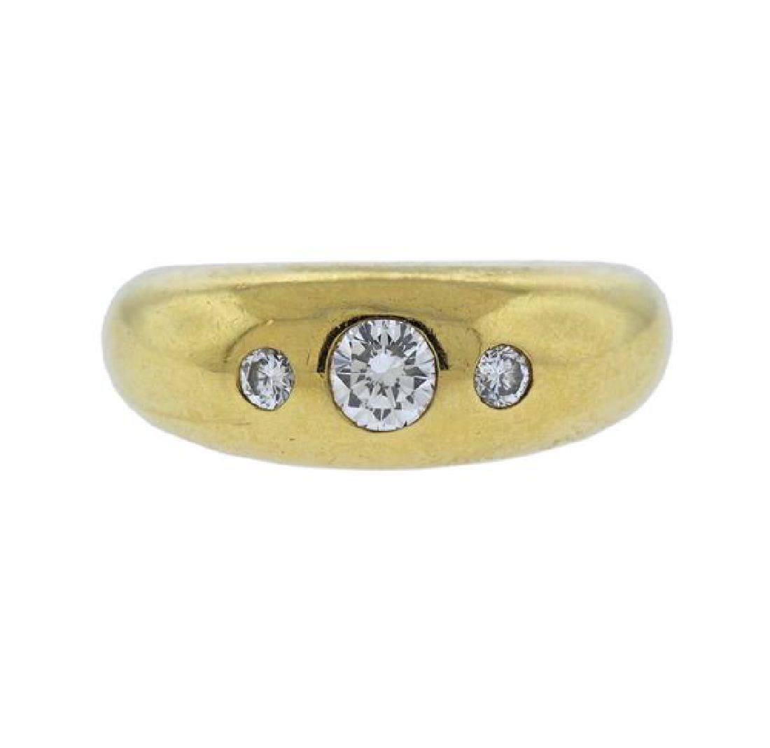 Cartier 18K Gold Diamond Band Ring