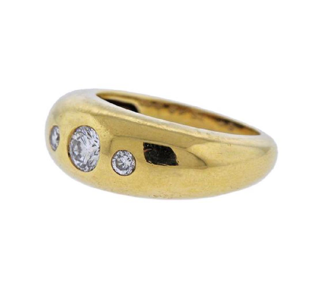 Cartier 18K Gold Diamond Band Ring - 2