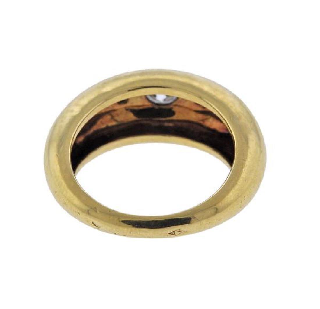 Cartier 18K Gold Diamond Band Ring - 3