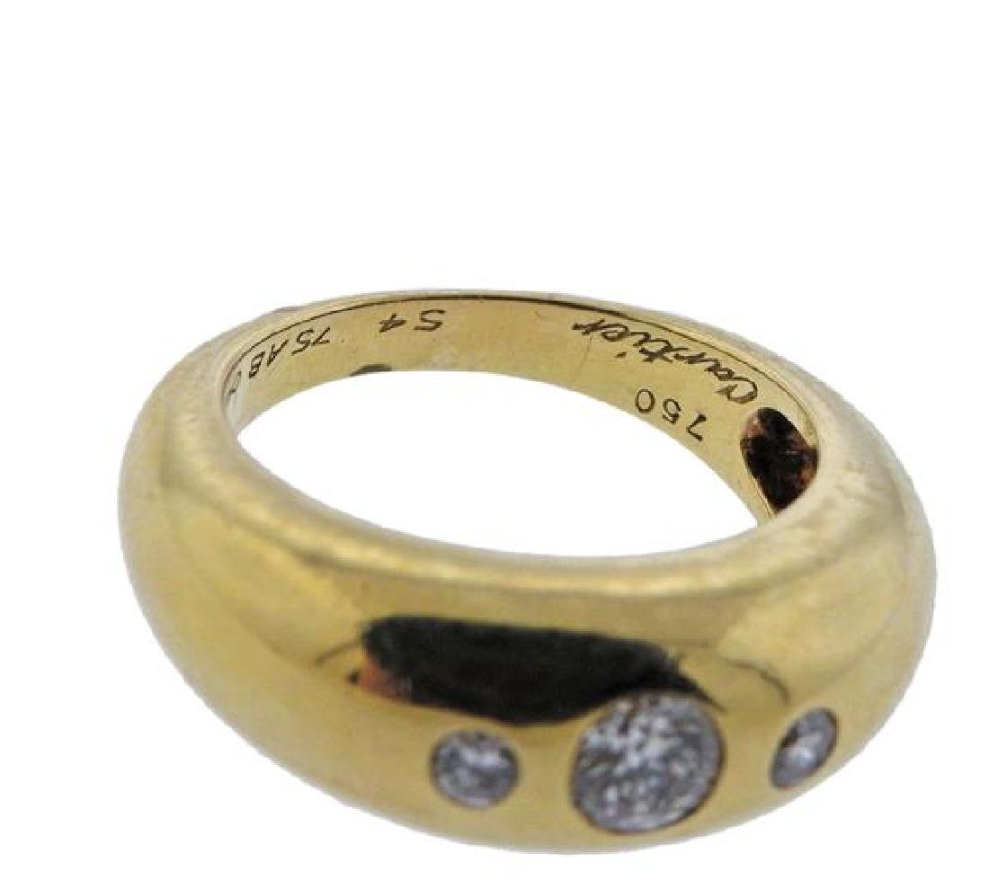 Cartier 18K Gold Diamond Band Ring - 4