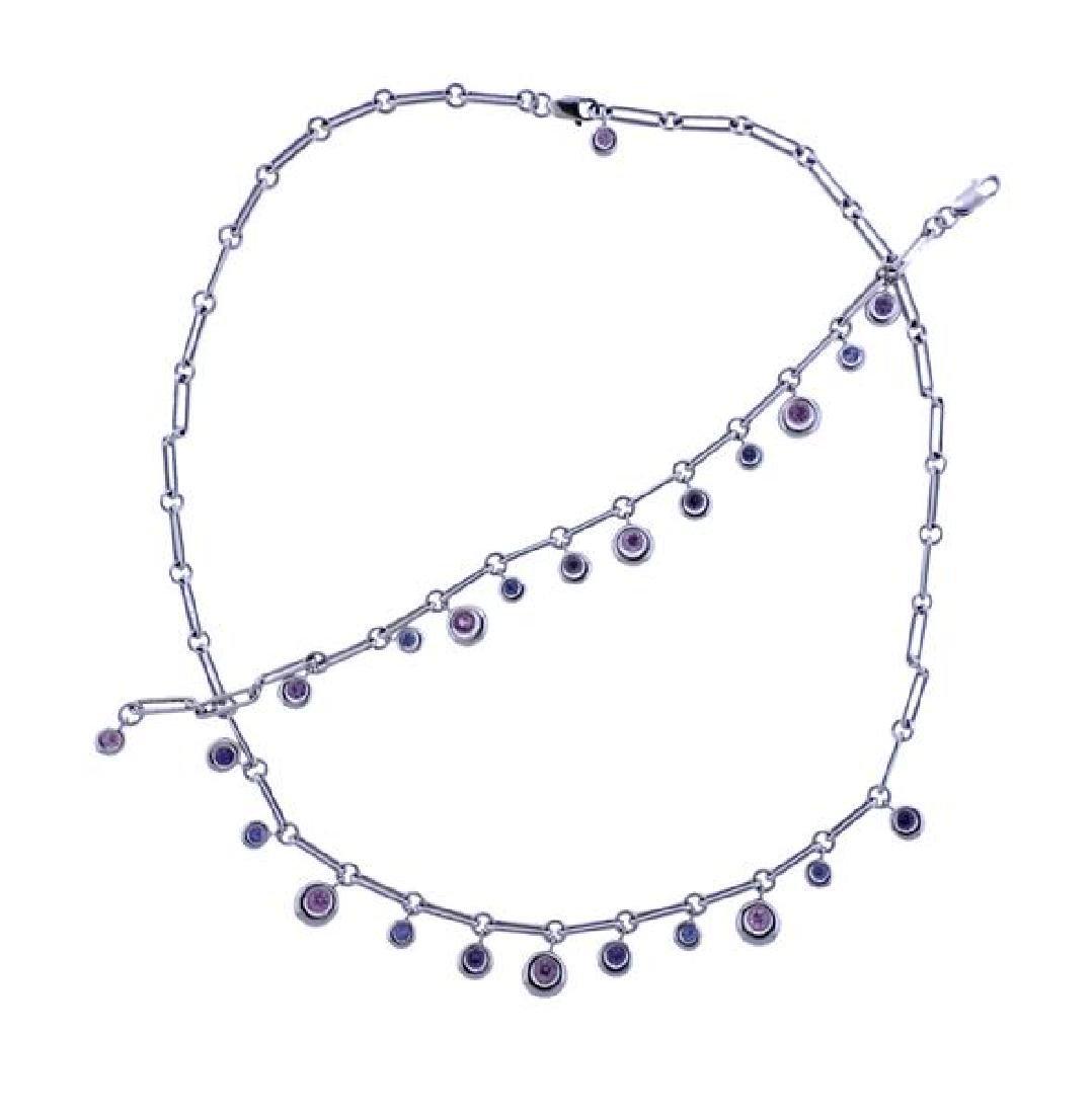Chaumet 18K Gold Multi Gemstone Bracelet Necklace Set