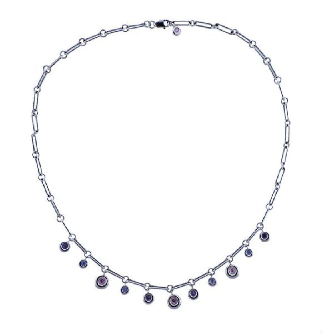 Chaumet 18K Gold Multi Gemstone Bracelet Necklace Set - 2