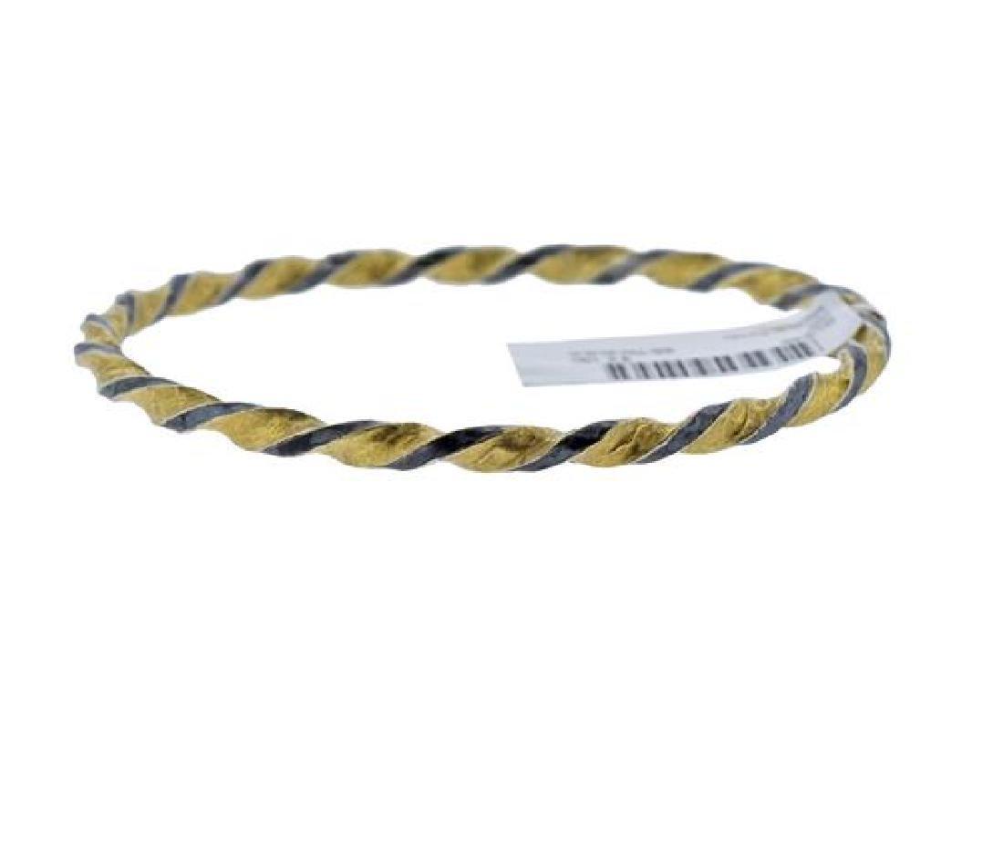 Gurhan Midnight Gold Sterling Twisted Bangle Bracelet - 2