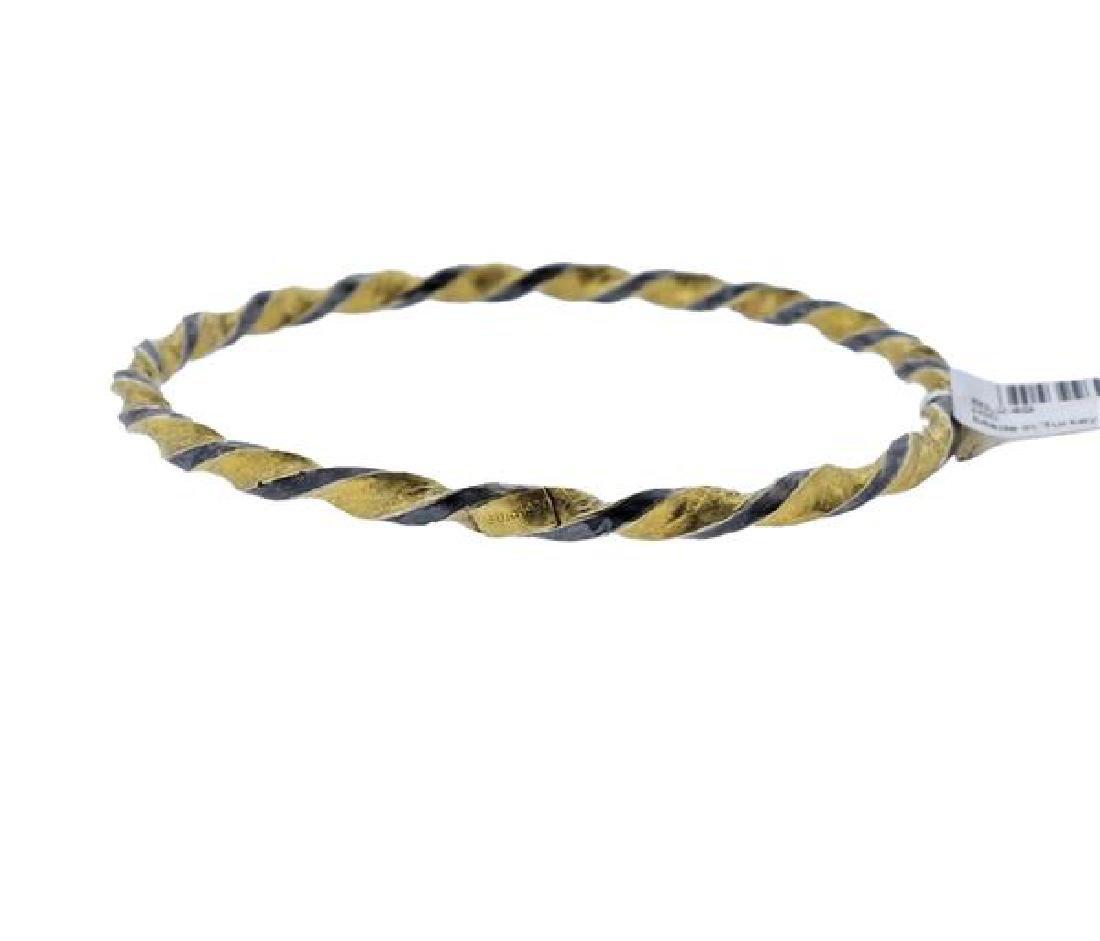 Gurhan Midnight Gold Sterling Twisted Bangle Bracelet - 3