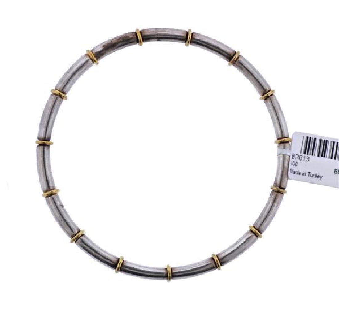 Gurhan Midnight Sterling Silver Gold Bangle Bracelet