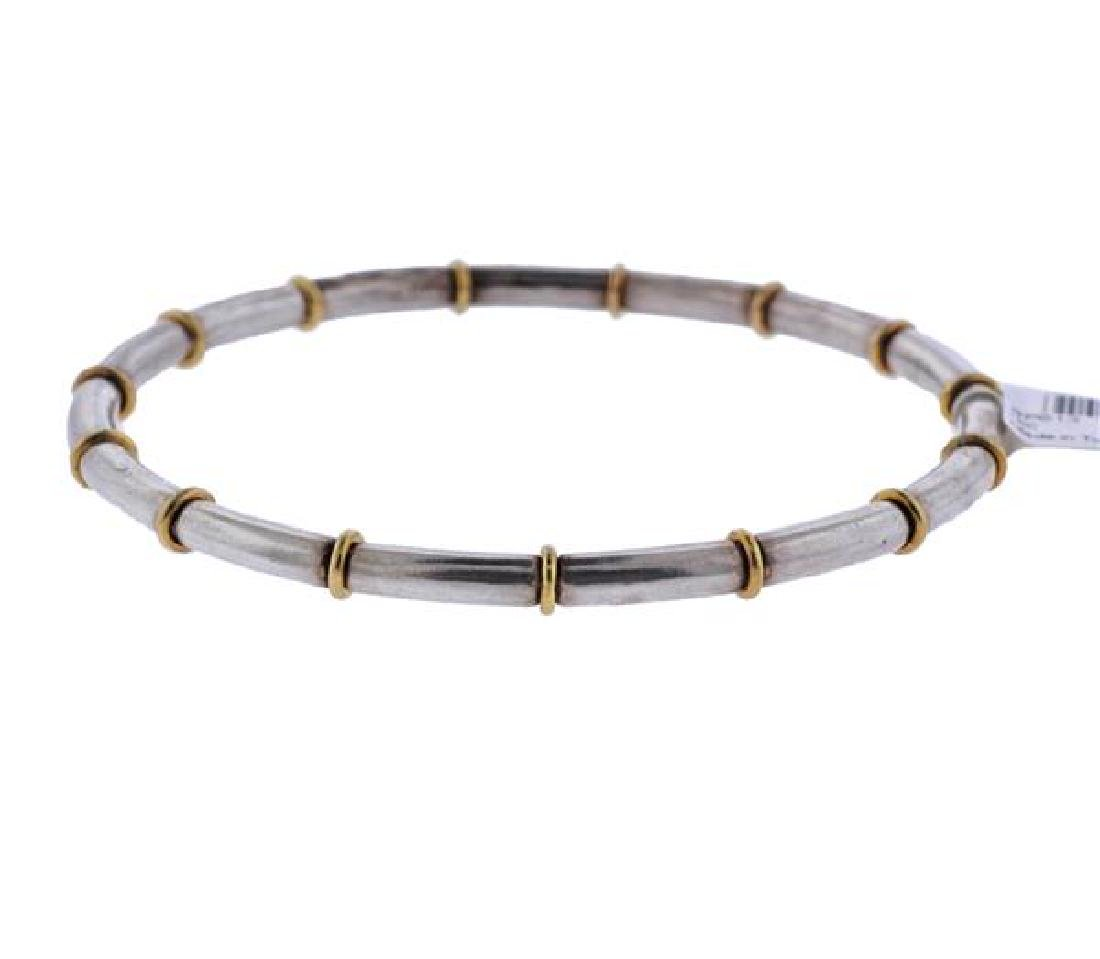 Gurhan Midnight Sterling Silver Gold Bangle Bracelet - 2