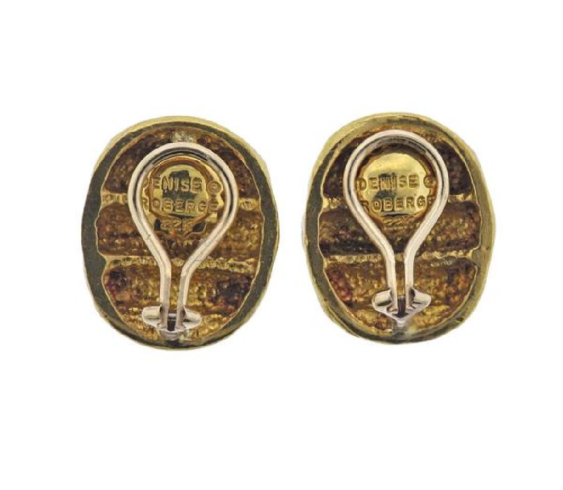 Denise Roberge 22K Gold Oval Earrings - 3