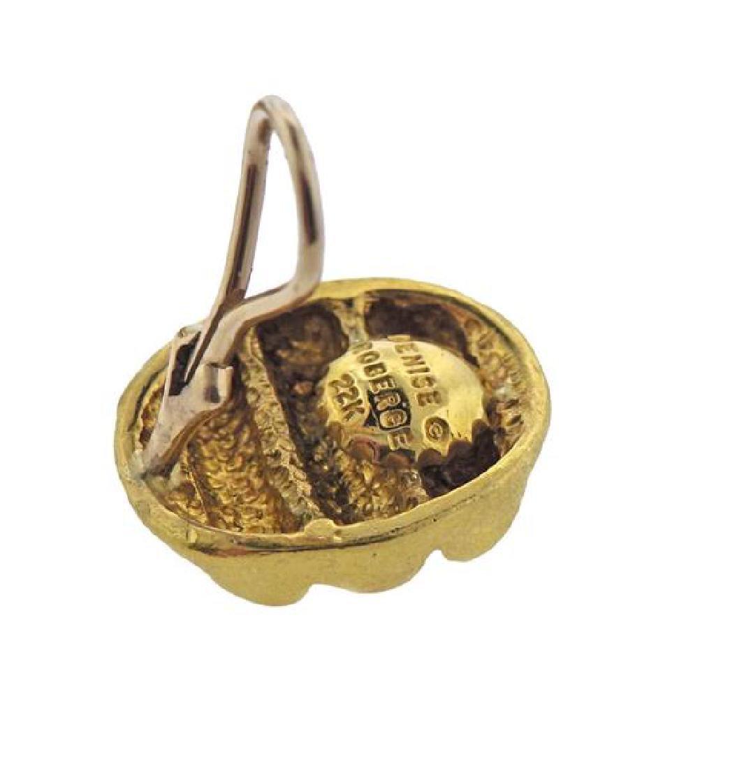 Denise Roberge 22K Gold Oval Earrings - 4