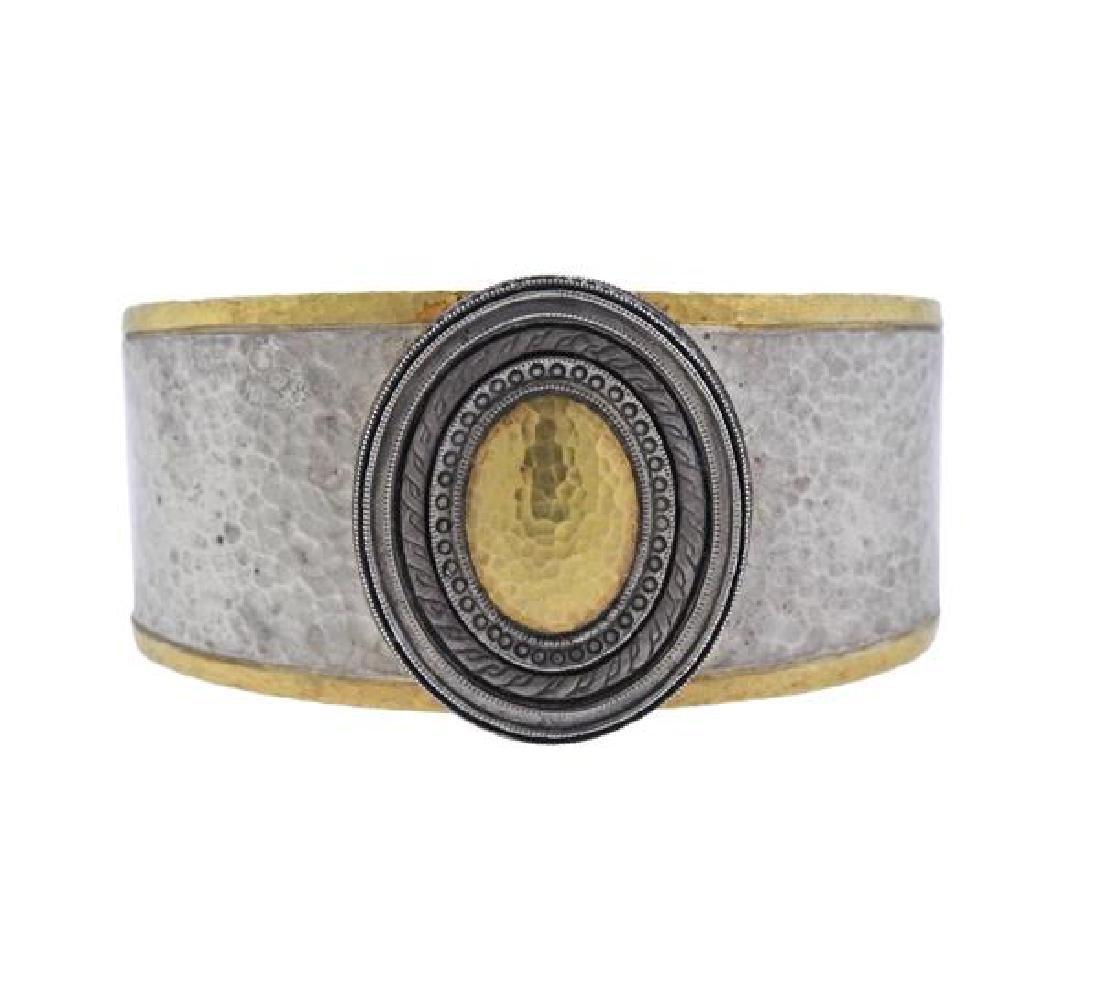 Gurhan Cavalier Sterling 24K Gold Cuff Bracelet