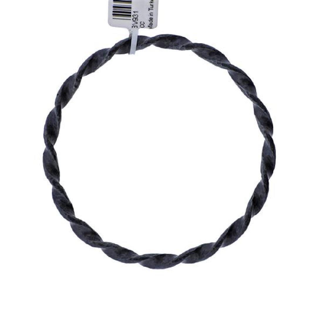 Gurhan Midnight Sterling Twisted Bangle Bracelet