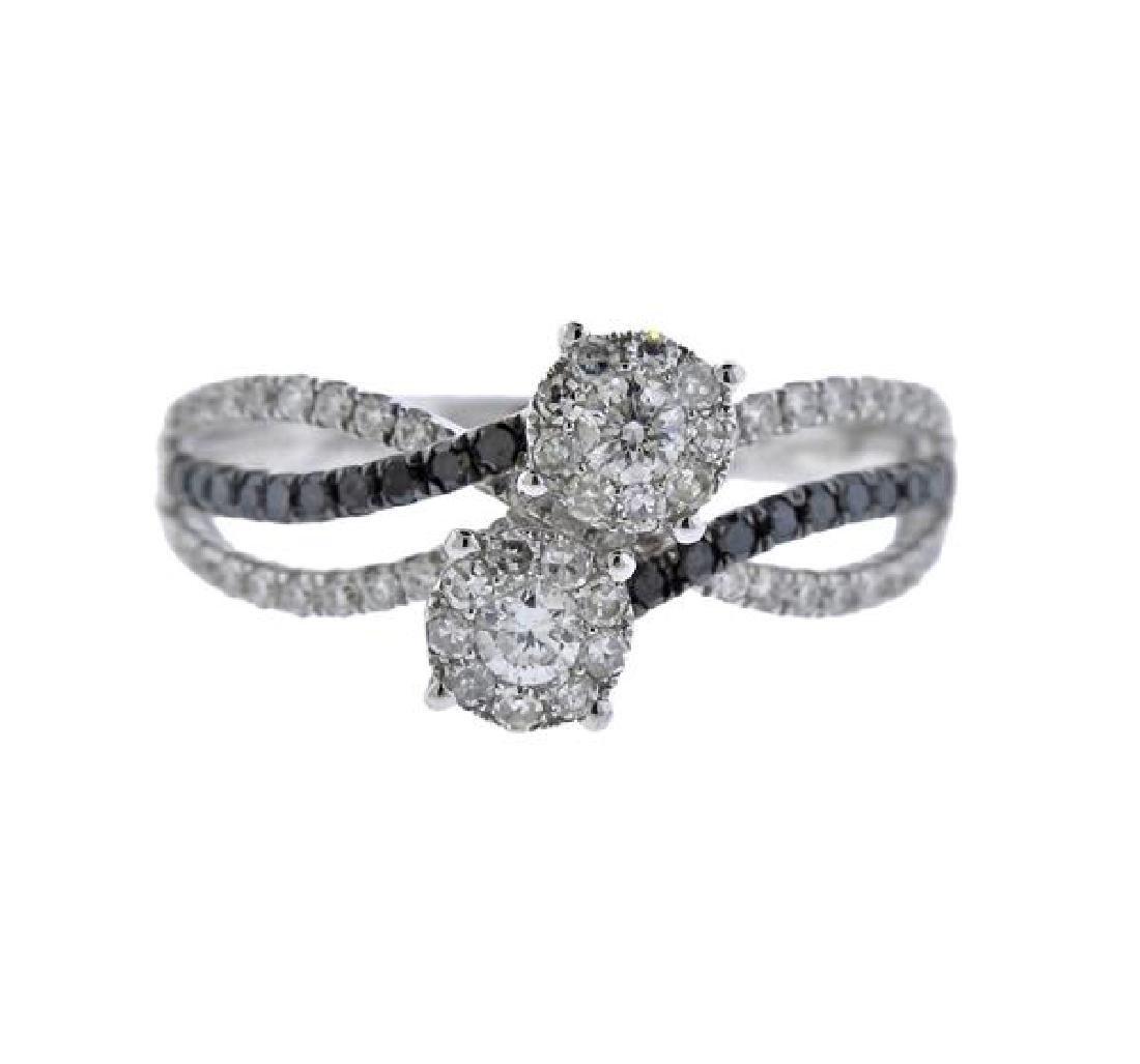 14K Gold Diamond Bypass Ring