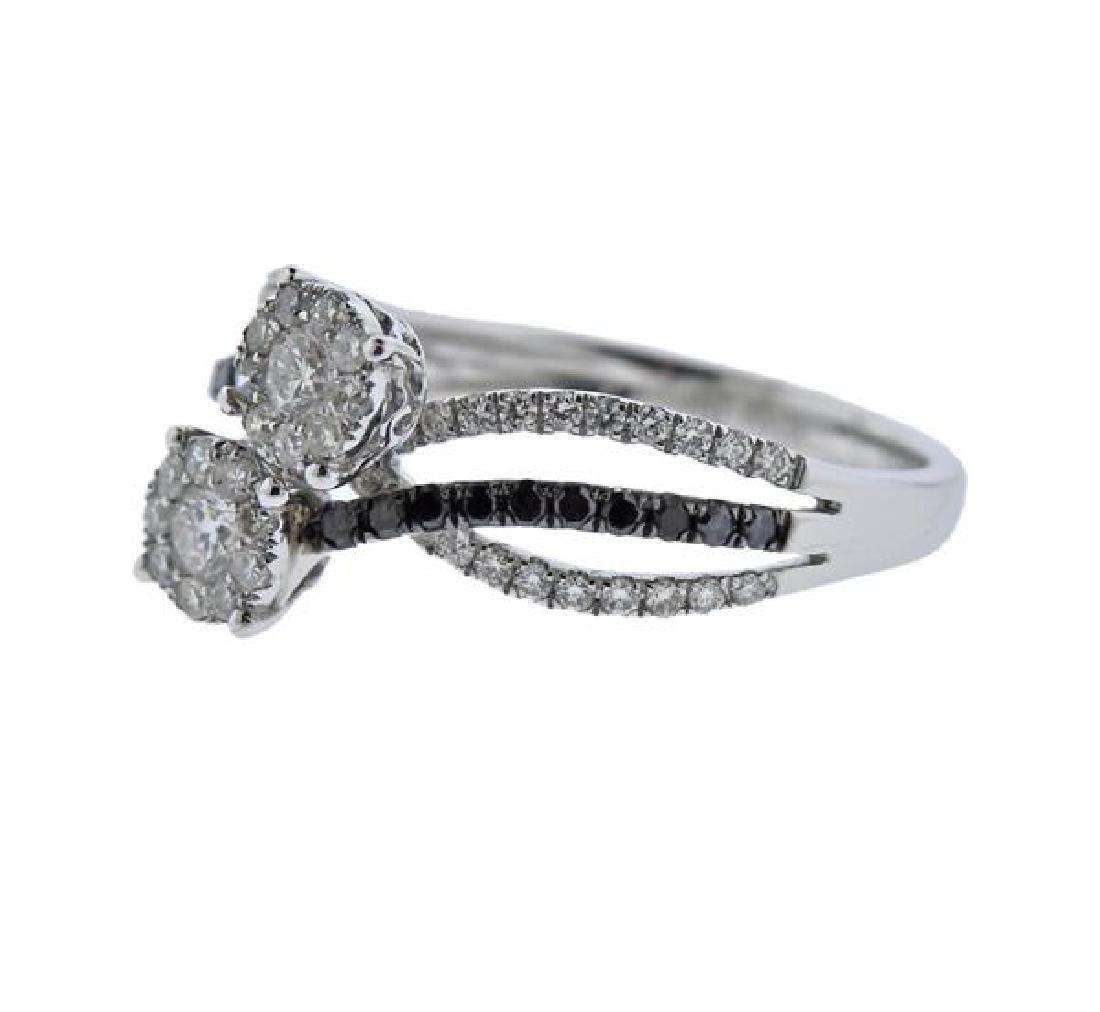 14K Gold Diamond Bypass Ring - 2