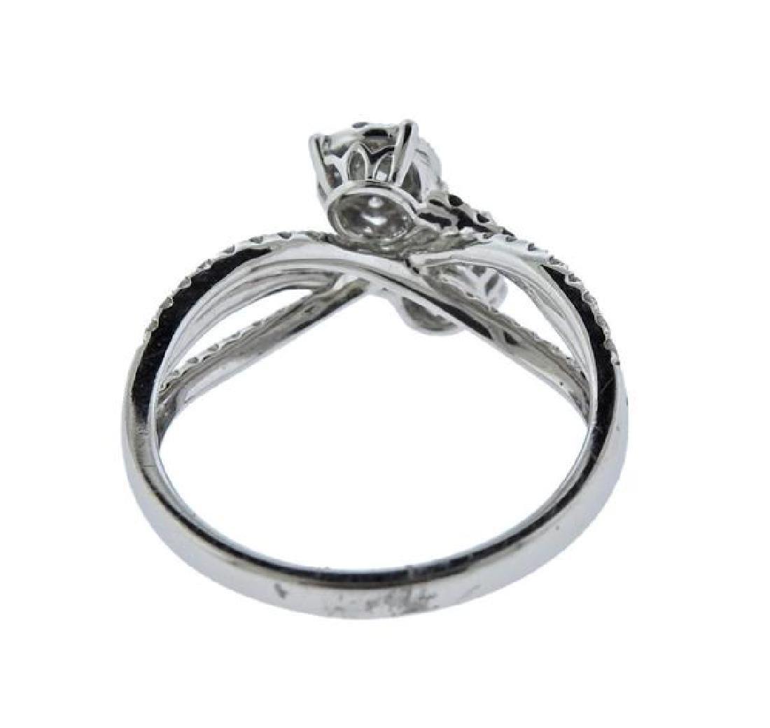 14K Gold Diamond Bypass Ring - 3