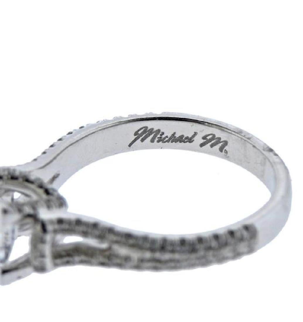 MIchael M. 18K Gold Diamond Engagement Ring Seeting - 3