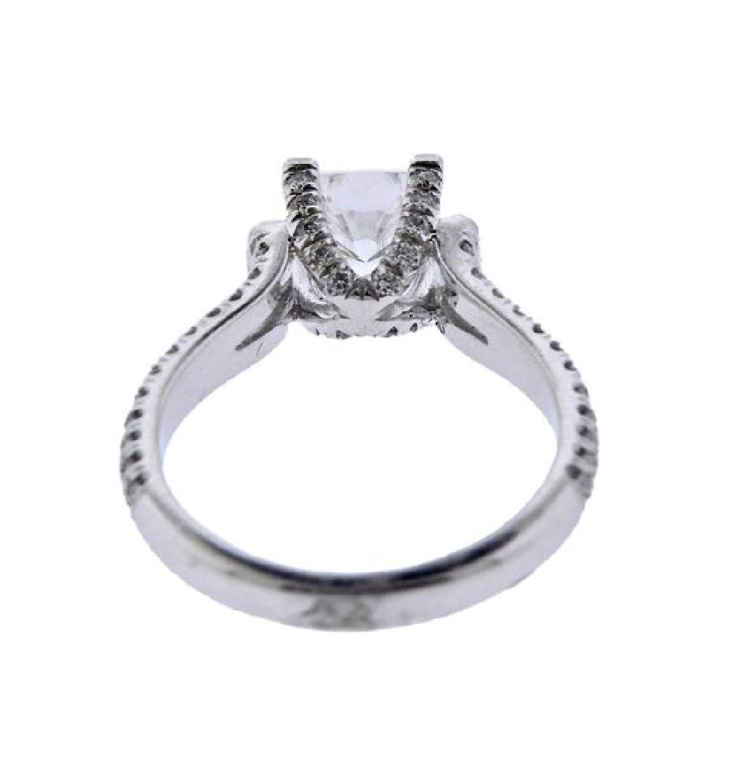 MIchael M. 18K Gold Diamond Engagement Ring Seeting - 4