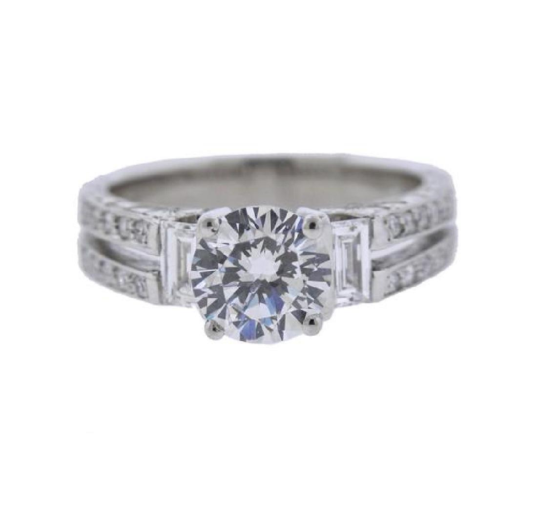 DeHago Platinum Diamond Engagement Ring Mounting