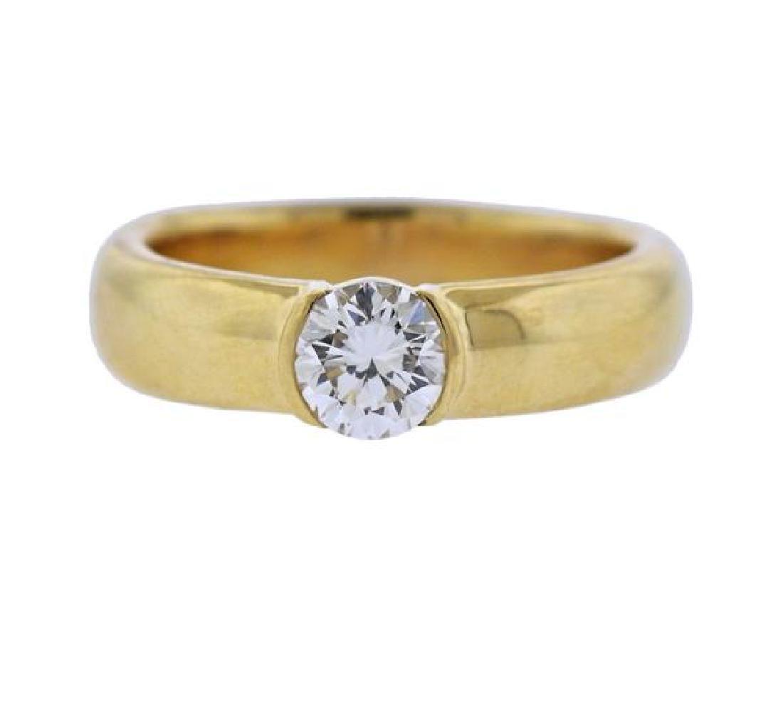 Tiffany & Co Etoile GIA 1.01ct Diamond 18K Gold