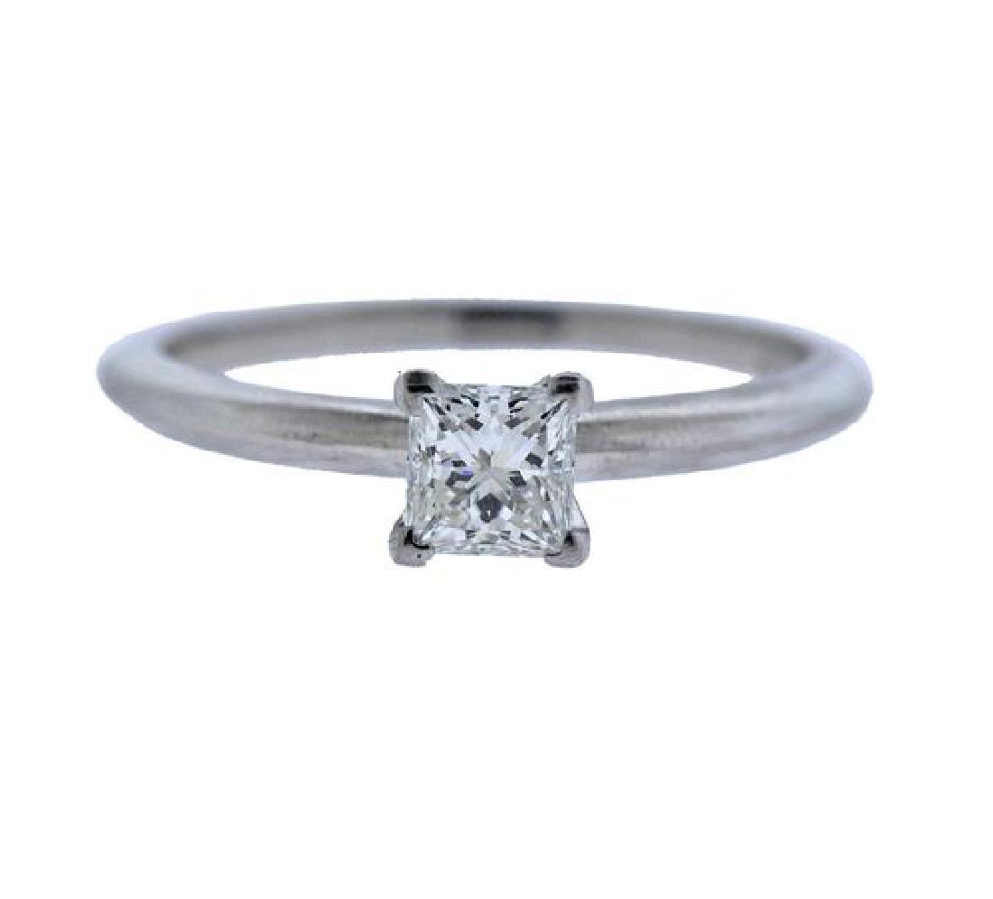 Tiffany & Co GIA 0.51ct Diamond Platinum Engagement