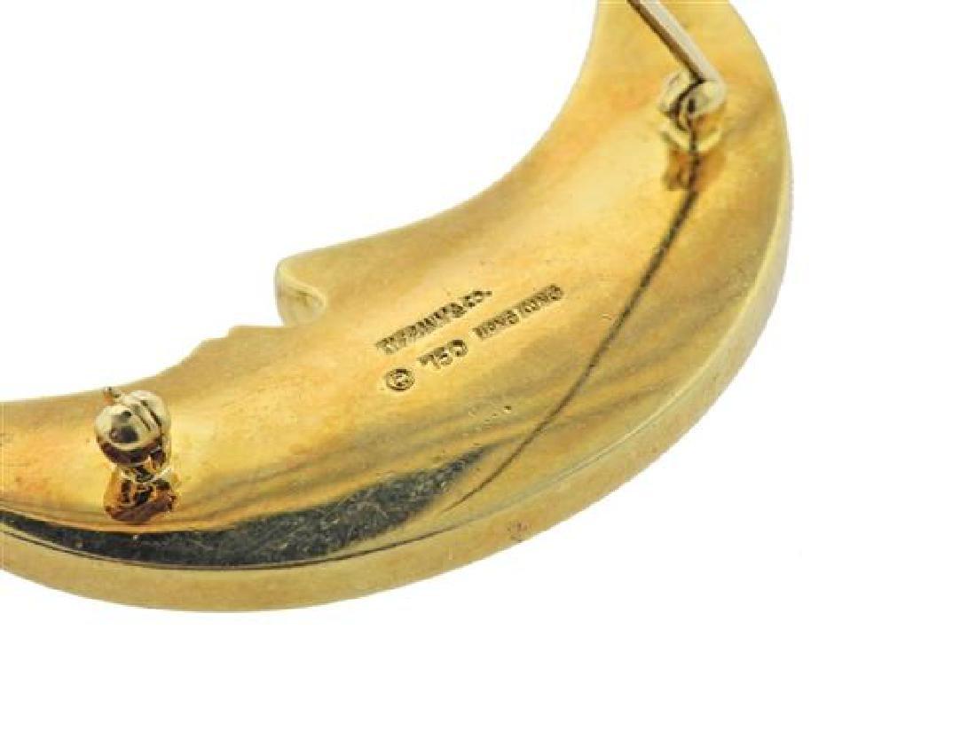 Tiffany & Co 18K Gold MOP Half Moon Brooch - 4