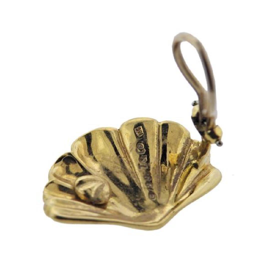 1980s Tiffany & Co 18K Gold Fan Earrings - 4
