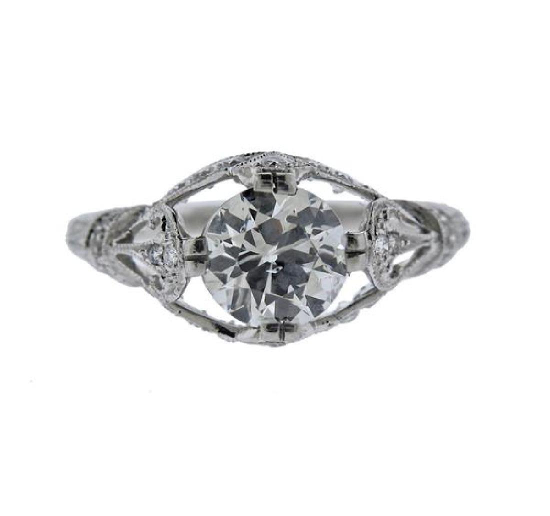 Sophia D. Platinum 1.34ct Diamond Engagement Ring