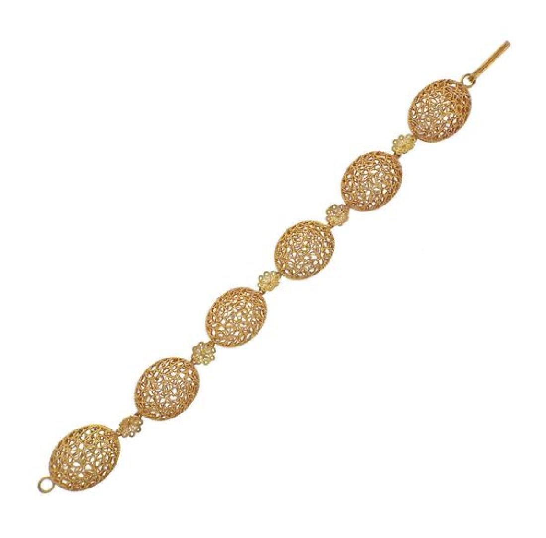 Buccellati Filidoro 18K Gold Open Work Bracelet