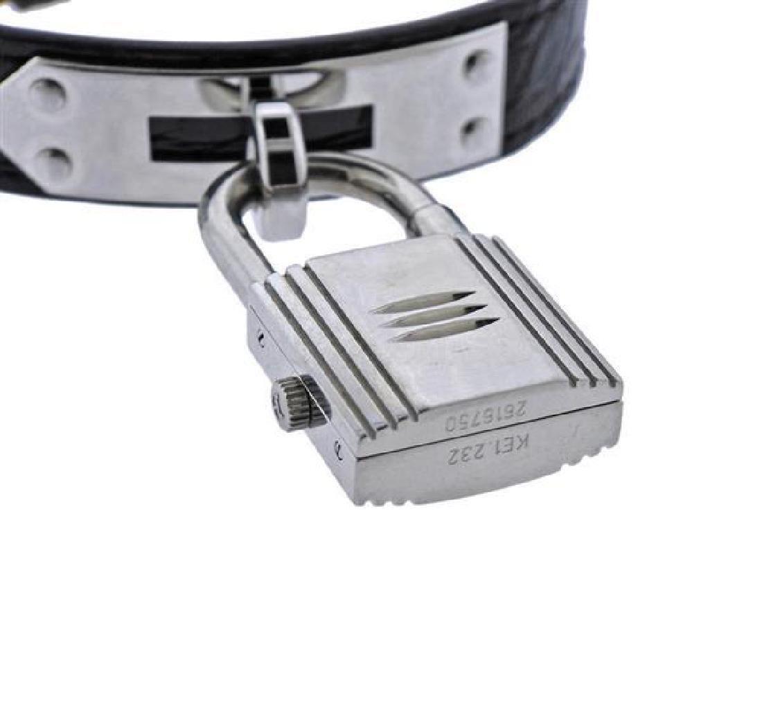 Hermes Kelly Lock MOP Diamond Steel  Watch - 4