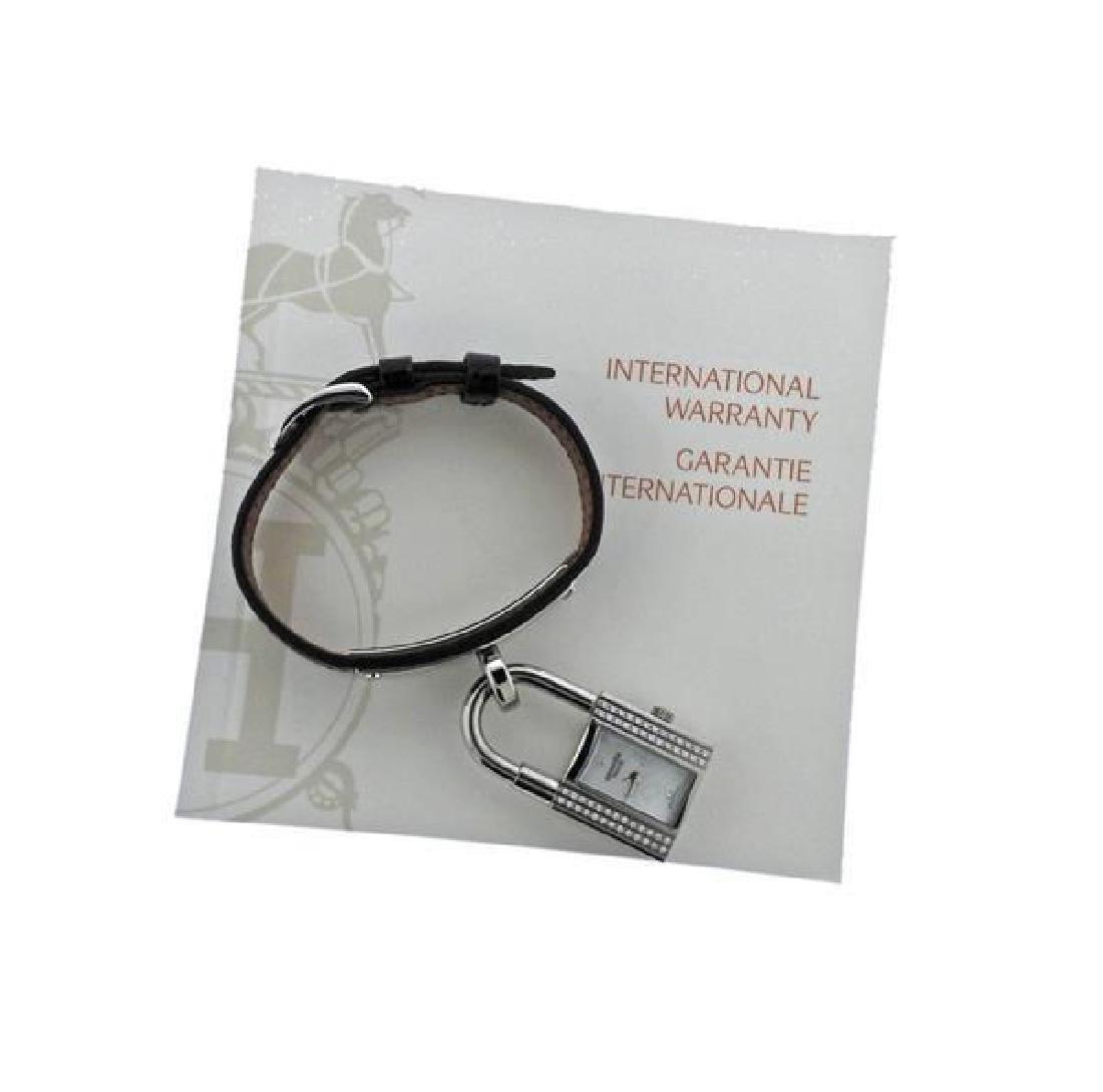 Hermes Kelly Lock MOP Diamond Steel  Watch - 5