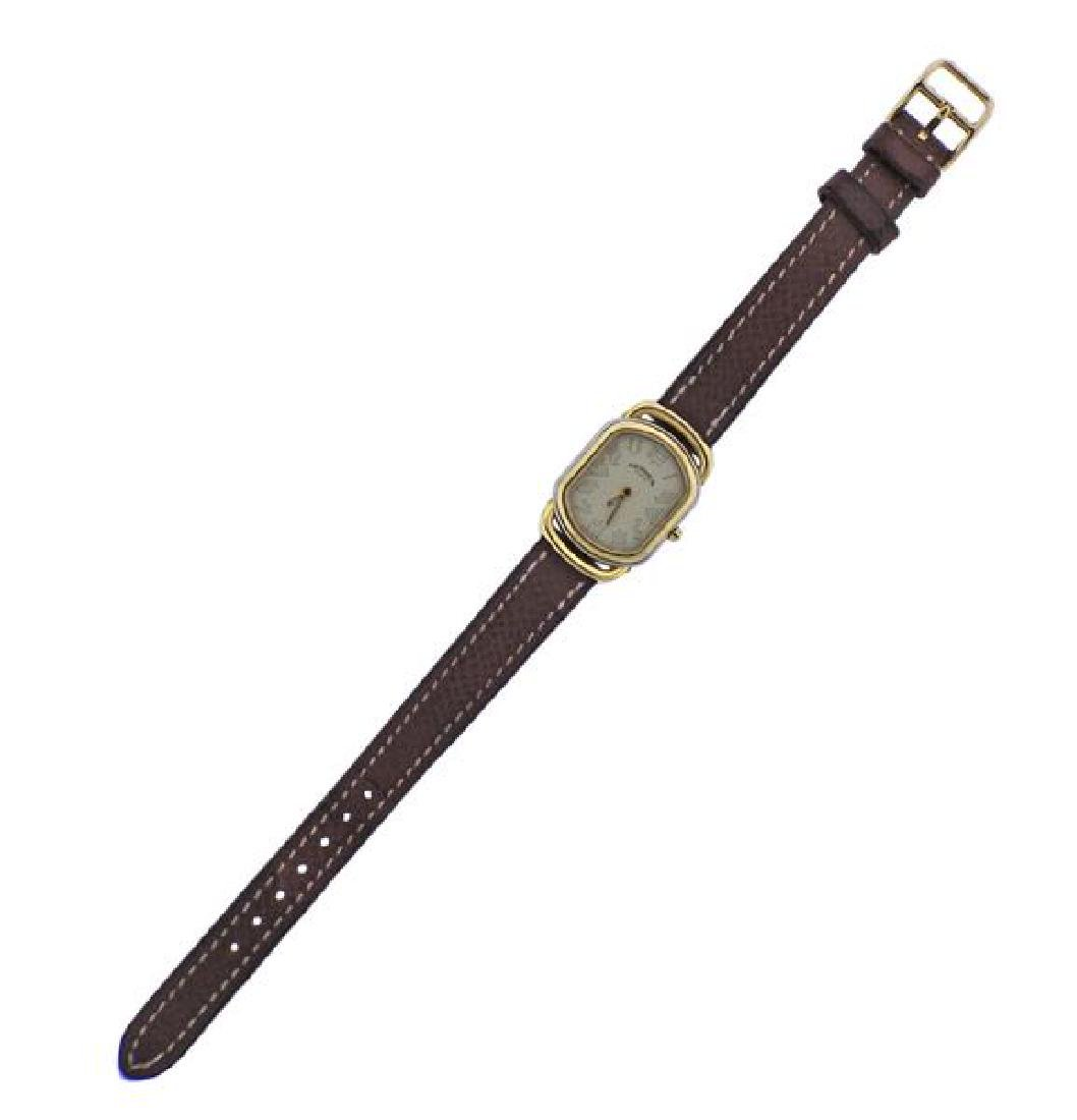 Hermes Gold Plated Steel Quartz Watch