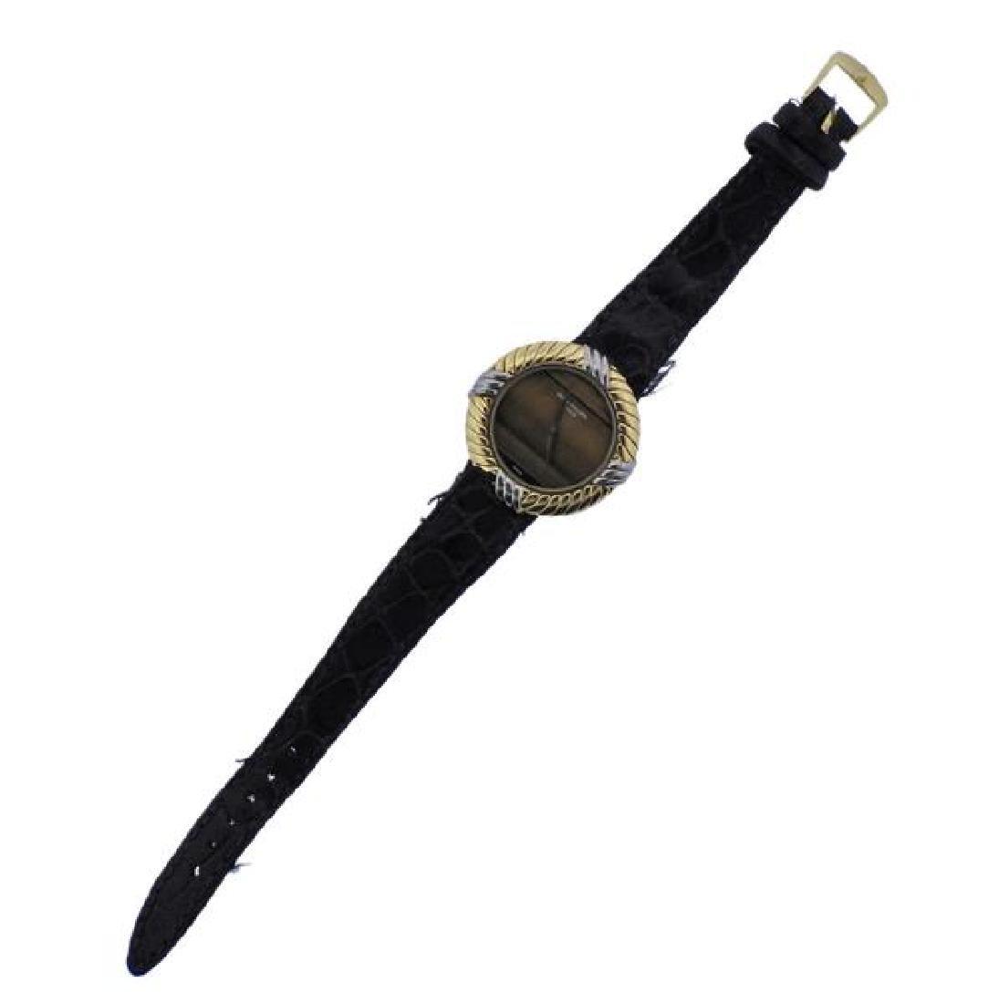 Patek Philippe 18K Gold Tiger's Eye  Watch 4354