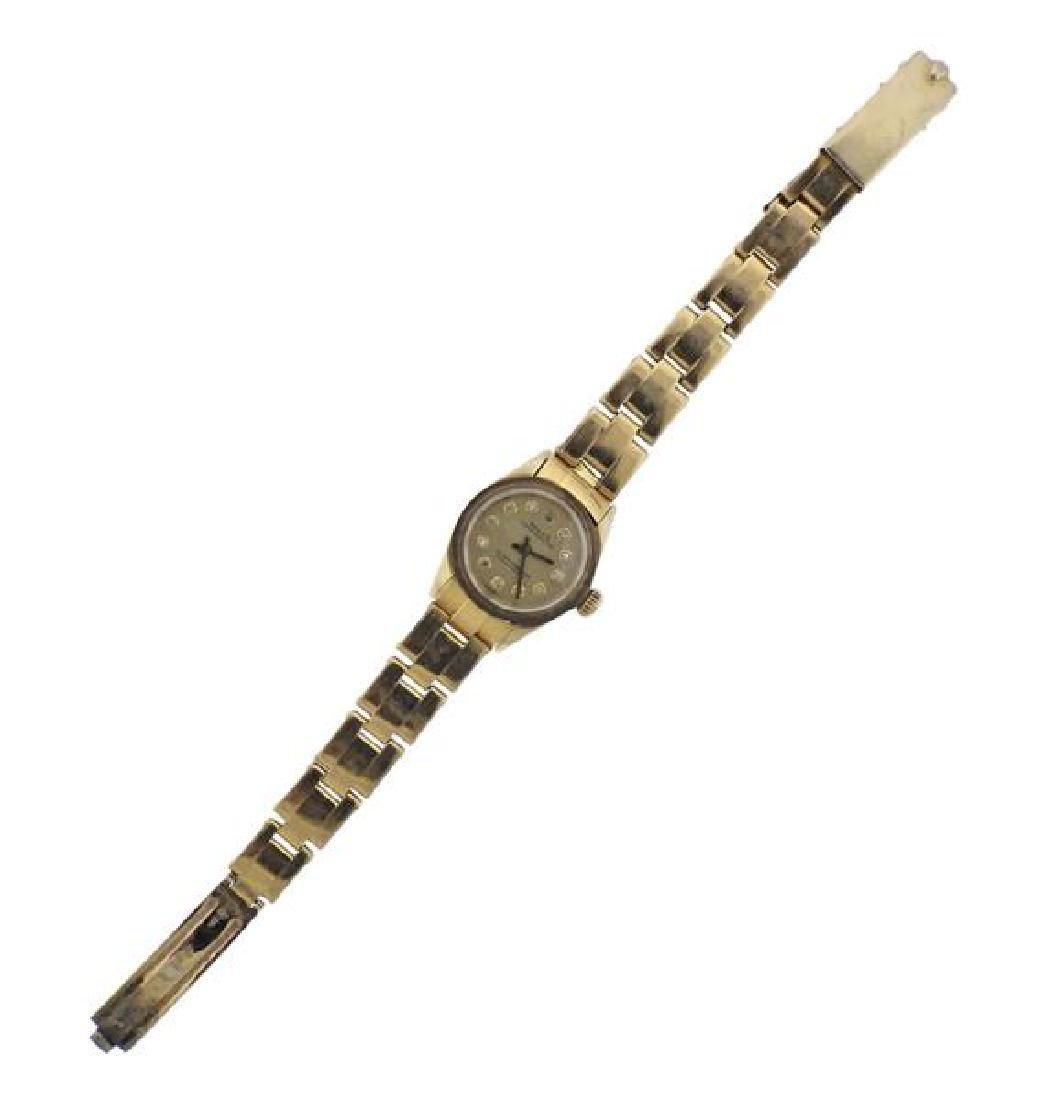 Rolex Oyster Perpetual 14K Gold Diamond Watch 6719